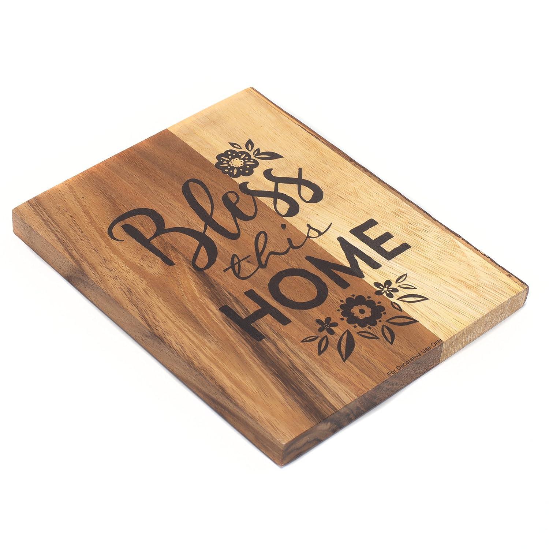 Bless This Home Flourish Inspirational 8 X 10 Inch Wood Decorative Cutting Board P Graham Dunn Nhc0040 Cutting Boards