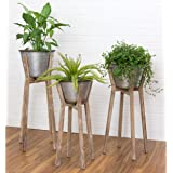 """Aspire Home Accents Hayes Modern Rustic Planters (Set of 3) - 35""""h x 17""""w / 32""""h x 16""""w / 28""""h x 14""""w"""