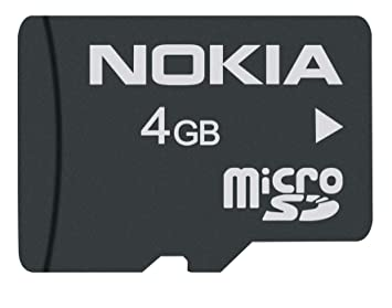 Nokia MU-41 - Tarjeta de memoria micro SD de 4 GB con adaptador (Clase 4), negro