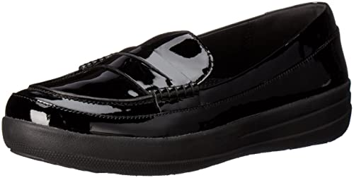 14427efa4f2 fitflop Women s F-Sporty Patent Penny Loafers Flat  Amazon.ca  Shoes ...