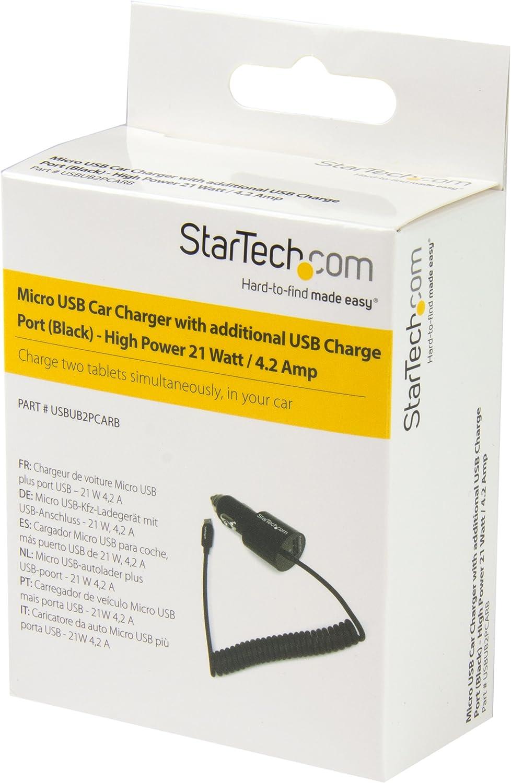 STARTECH com Chargeur pour voiture double avec câble