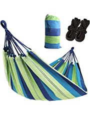 AC Doctor INC Outdoor Leisure Double 2 Person Cotton Hammocks 450lbs Ultralight Camping Hammock with Backpack