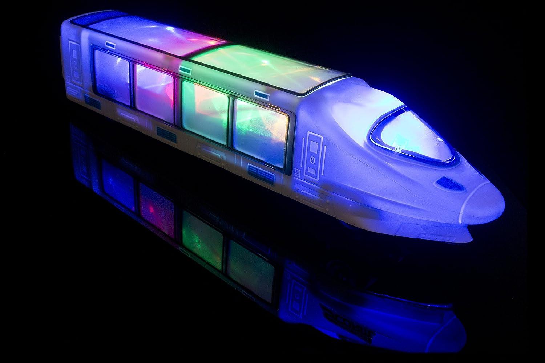 PALESTRAKI Ferrocarril eléctrico para niños - con iluminación LED y música. Gran cumpleaños. Regalo para niños Desde y Mayores de 3 años.