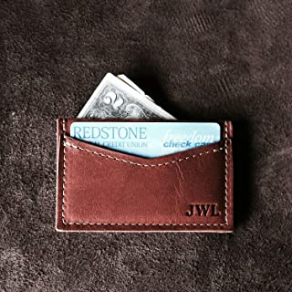 product image for The Vernon Fine Leather Front Pocket Card Holder Wallet - Personalized