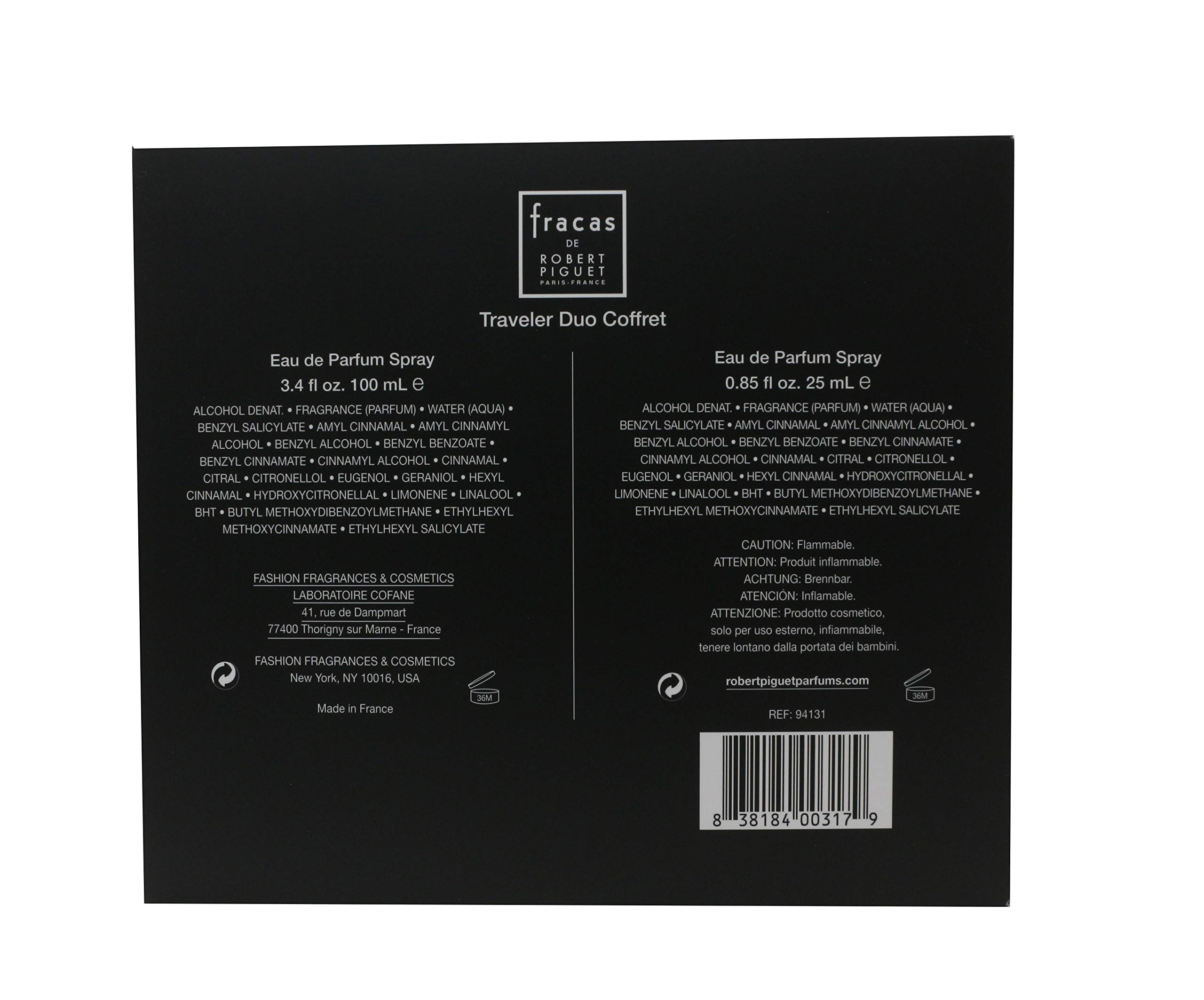 Robert Piguet Fracas Traveler Set (3.4 oz and 0.85 oz Sprays)
