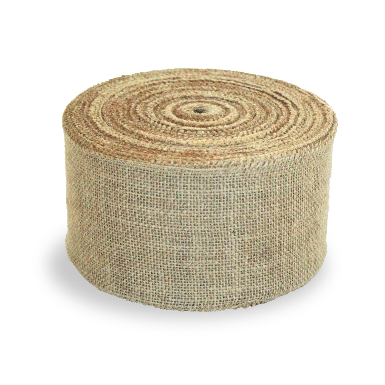 Craft Burlap Ribbon No Fray Edges 6 Inches by 50 Yards Wreath Ribbon by Burlap and Beyond (Image #3)