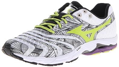 Mizuno Men's Wave Sayonara Running Shoe,White/Lime Punch,11.5 ...