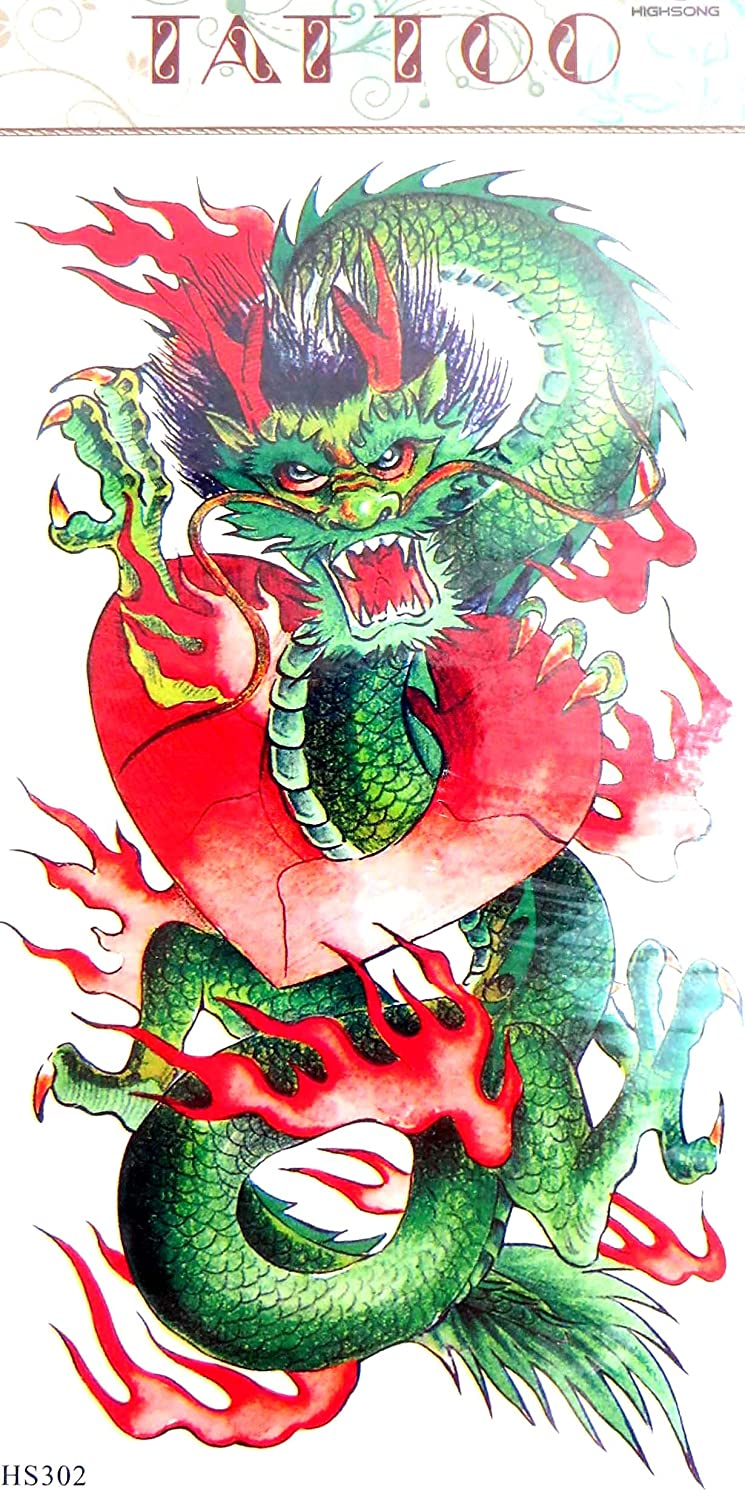 Amazon.com: Asian Chinese dragon temporary tattoo sticker for men boy  women: Clothing