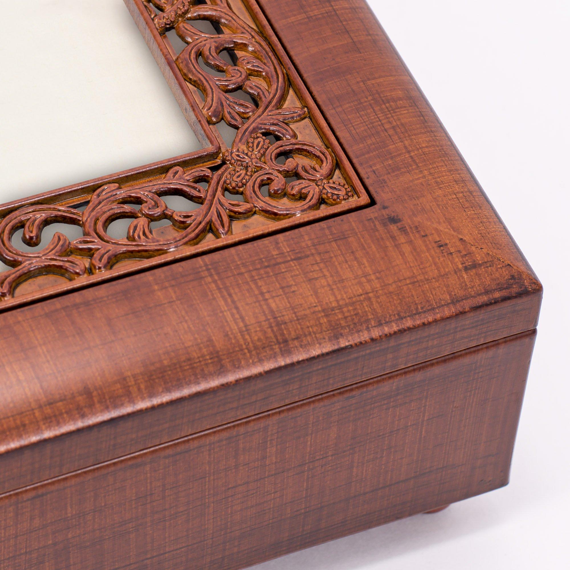 Cottage Garden Sister Woodgrain Ornate Music Box Plays Wonderful World by Cottage Garden (Image #6)