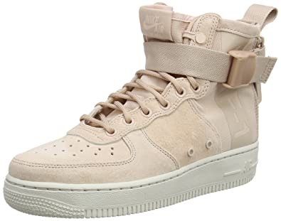 new style 3fb51 b1e2b Nike W Sf Af1 Mid, Women s Gymnastics Gymnastics Shoes, Beige (Particle  Beige 201