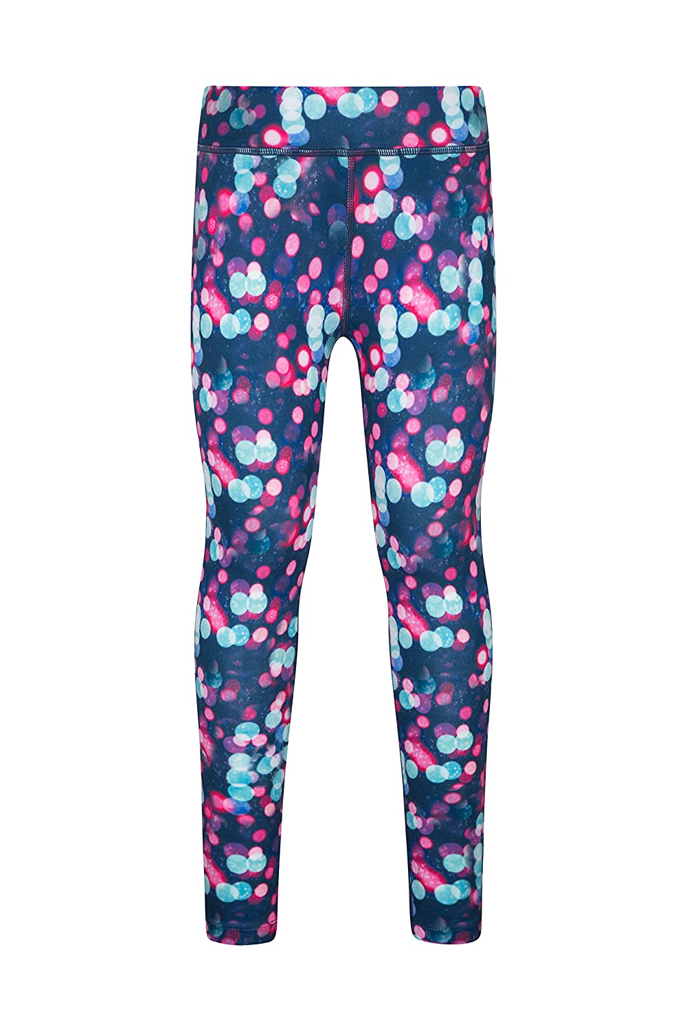 Mountain Warehouse Printed Girls Leggings - Lightweight Kids Tights, Stretchable Walking Leggings, Quick Wicking & Antipill Pants - for Winter Running, Cycling & Sports