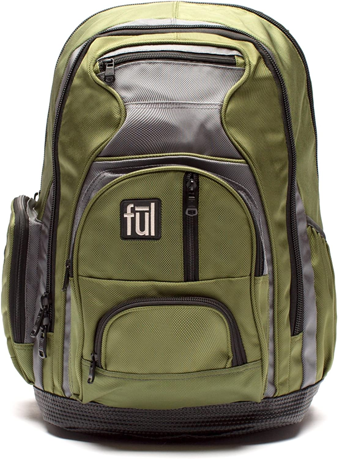 Ful Free Fallin Padded Laptop Backpack, Fits Up to 17-Inch Laptops, Green, Unisex