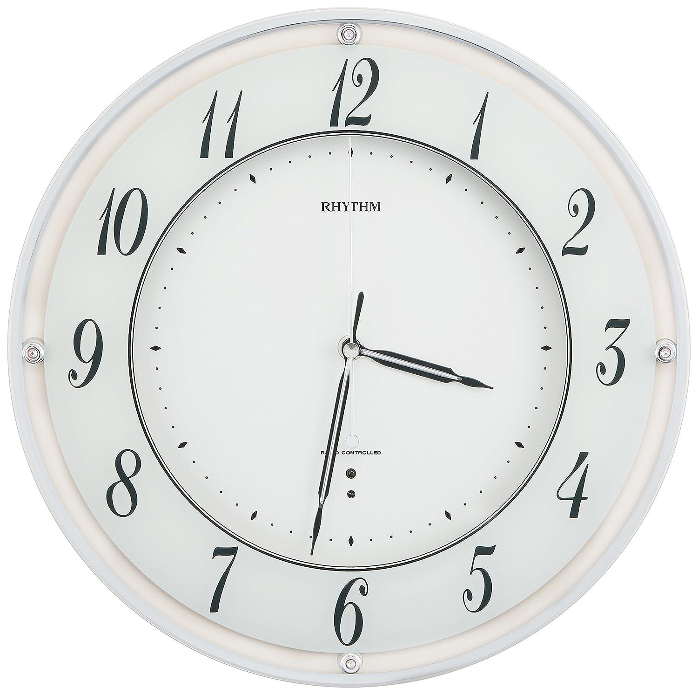 リズム時計 掛け時計 電波 アナログ ミレディローズ 連続秒針 クリスタル 飾り付 ピンク RHYTHM 8MY498SR13 B00Y0BAXDY