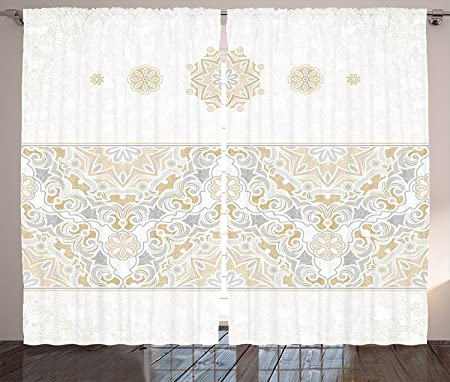 Traditional House Decor Curtains Turkish Oriental Tilework Star Shaped Embellished Islamic Pastel Design Living Room Bedroom
