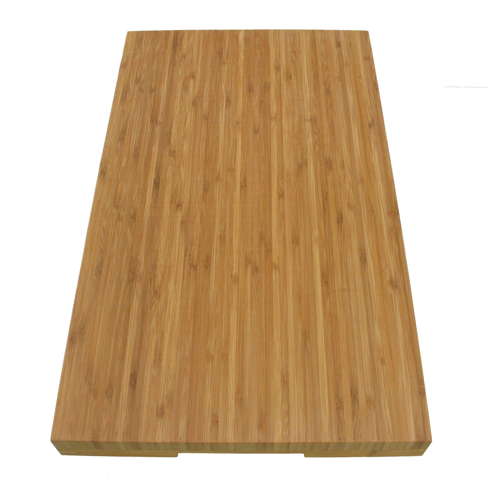 BambooMN Brand Jenn Air Bamboo Range Burner Cover / Cutting Board, New Vertical Cut, Large (20.5''x12''x1.57'') by BambooMN