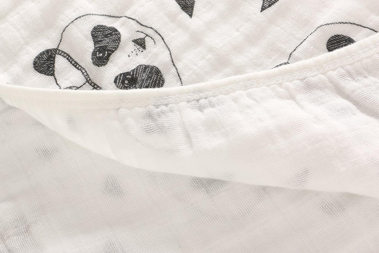 Miracle Baby Mantas Muselina Bebe Algodon,Manta Dos Capas Suave y Acogedor para el Sue/ño Profundo 120*120cm para Cochecito Unisex Negra Panda