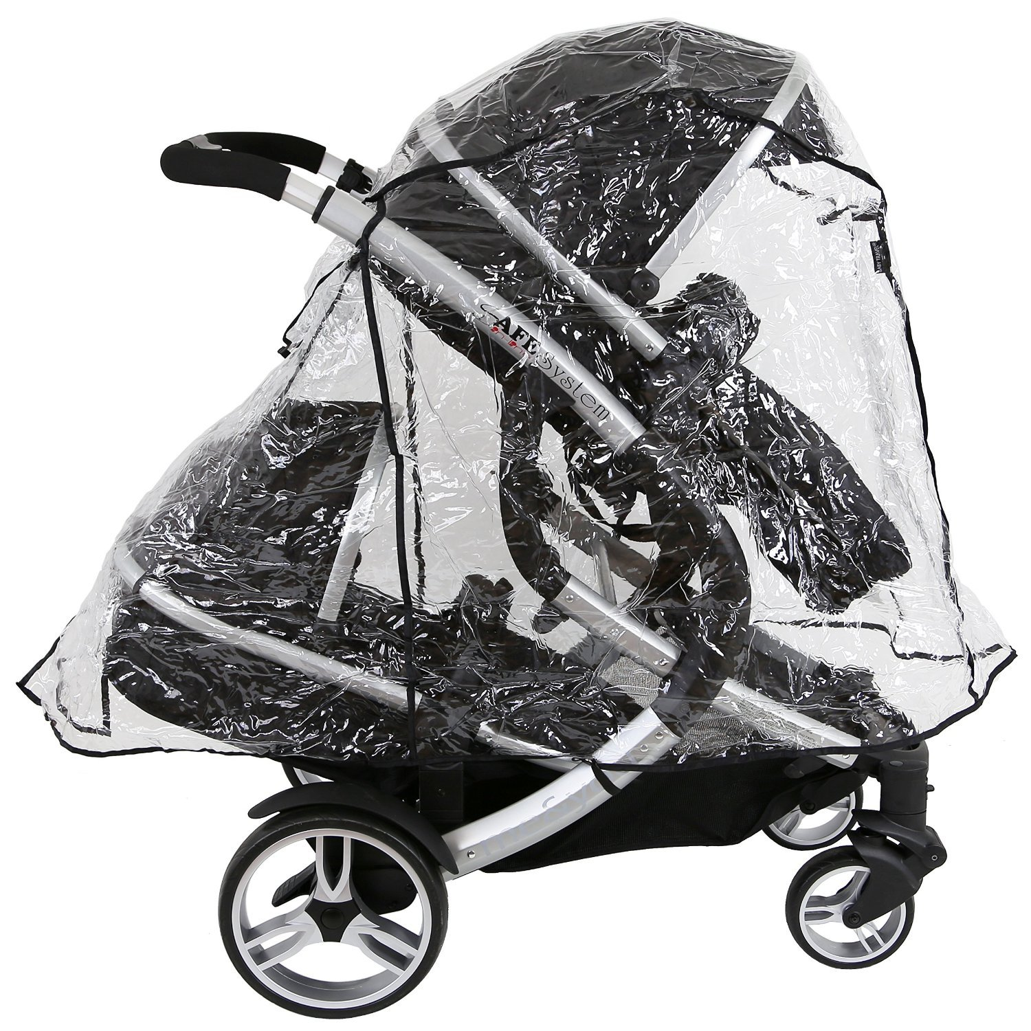 Large All In One Version Universal Britax Bdual Tandem Raincover iN LiNe