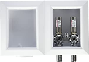 Sioux Chief 696-2313MF Oxbox Washing Machine Outlet Box with Minister Water Hammer Arresters
