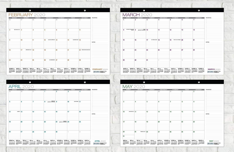 Runs from July 2018 Through December 2019 1 Pack Desk Calendar 2018-2019 11x17