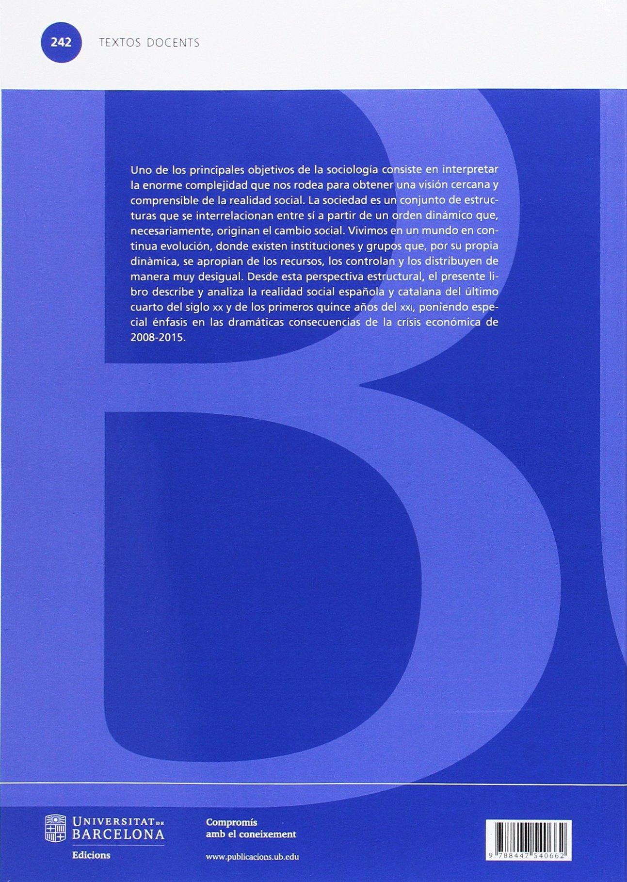 Estructura social en España y Cataluña 4ª ed. : 242 TEXTOS DOCENTS: Amazon.es: Climent Sanjuan, Victor: Libros