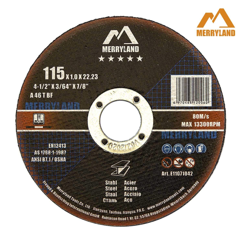 Merryland 4-1//2 X 1//4 Expert-line Grinding Wheel Steel Metal Iron INOX 10PCS
