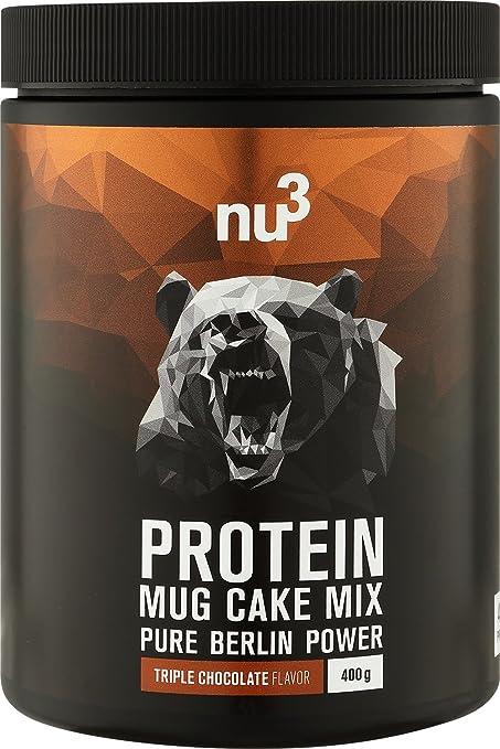 nu3 Mug Cake con Proteína | 400g de mezcla lista para microondas | Sabor triple chocolate