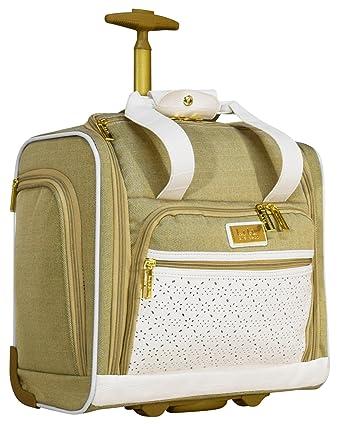 7e3bdd426f9c Nicole Miller Alexa Under Seat Bag Carry On (White)  Amazon.co.uk ...