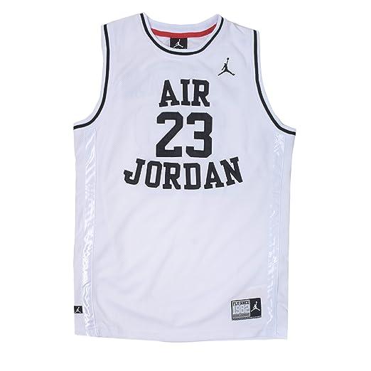 dde74800c37 Amazon.com : Nike Jordan Little Boys' Classic Mesh Jersey Shirt (7 ...