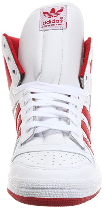 new arrival 7630b e3105 adidas Decade Hi, White Scarlet Bluebird Uk Size  11  Amazon.co.uk  Shoes    Bags