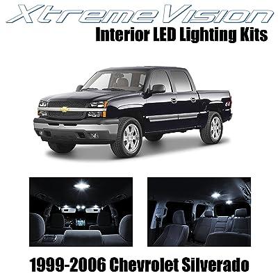 Xtremevision Interior LED for Chevy Silverado 1999-2006 (18 Pieces) Pure White Interior LED Kit + Installation Tool: Automotive