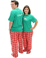 Matching Christmas Pajamas Naughty-Nice 2 Sided Adult Holiday Pajama Pant Set & Playwear for Kids