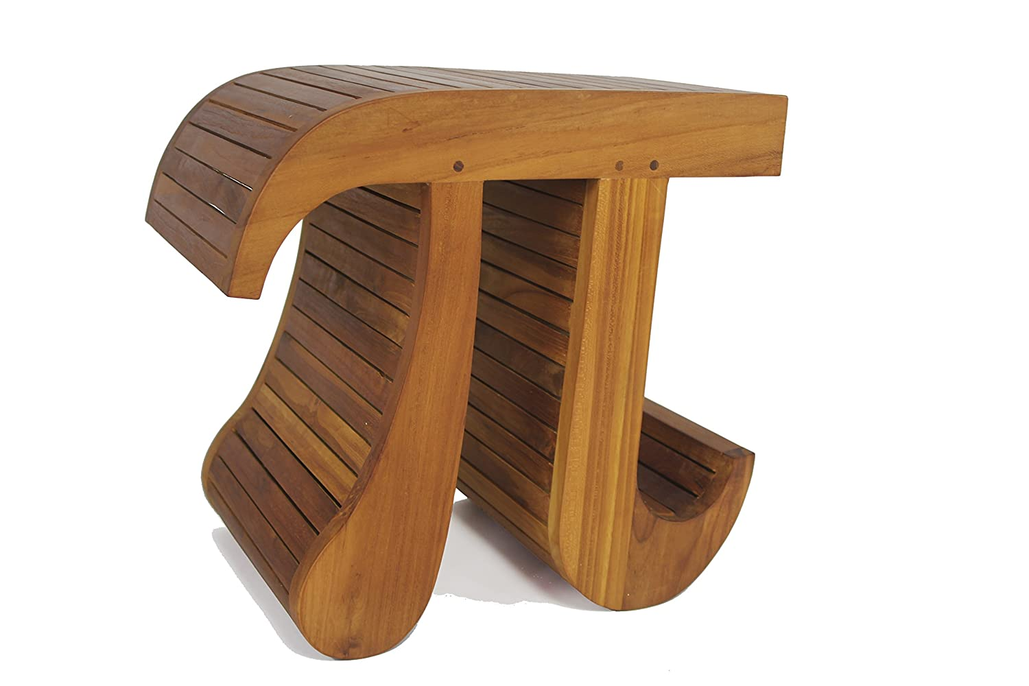 sc 1 st  Amazon.com & Amazon.com: Pi-Shaped Teak Bench: Sports u0026 Outdoors islam-shia.org