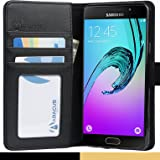 Abacus24-7 Samsung Galaxy A5 Case [A520F, 2017] Wallet Flip Cover, Black