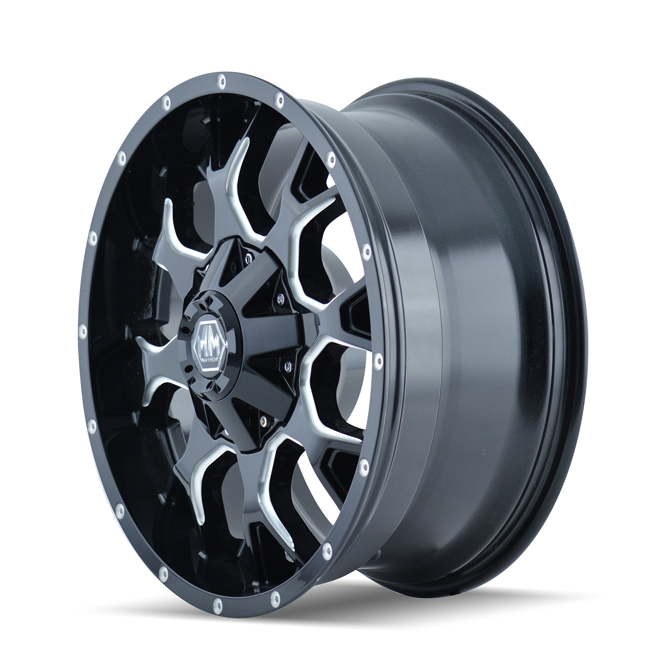 Mayhem Warrior 8015 Black Wheel with Milled Spokes (20x9''/16x165.1mm)