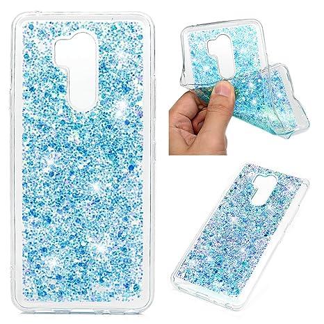 LG G7 thinq Teléfono Móvil purpurina Carcasa Case Cover ...