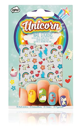 Npw Nail Art Stickers Decals Pack Of 78 Unicorn Nail Sticker