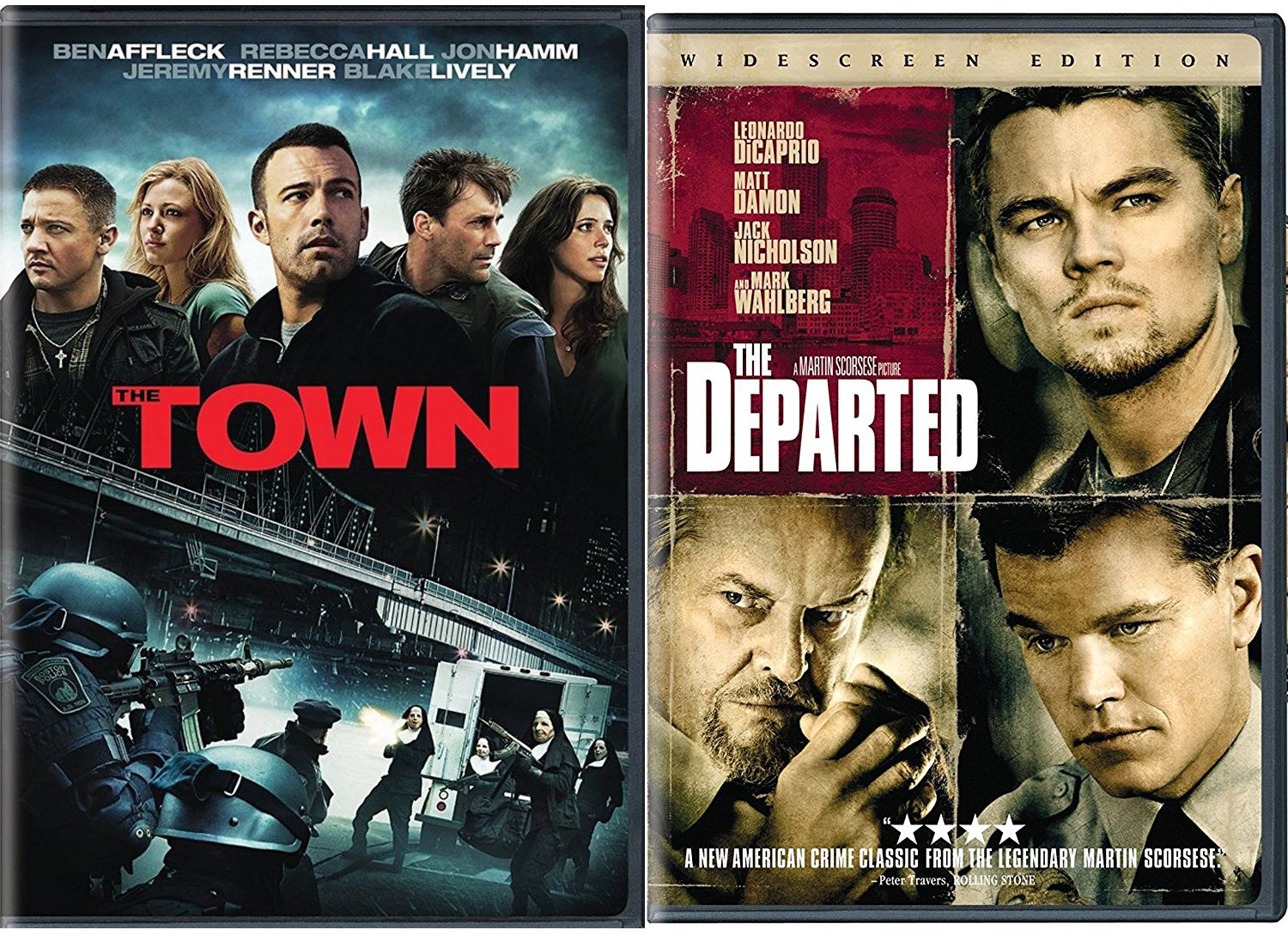 Amazon.com: The Departed & The Town DVD 2 Pack Leonardo DiCaprio & Ben  Affleck Double Feature Movie Set: Leonardo DiCaprio, Ben Affleck, Martin  Scorsese: Movies & TV