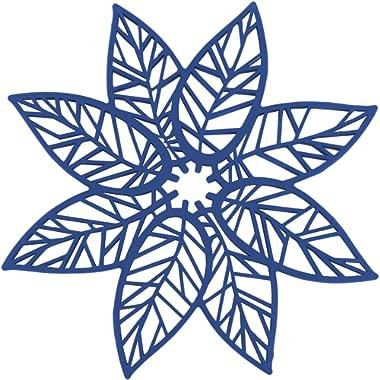 Rachael Ray Silicone Heat Resistant Multi-Use Leaf Design Trivet, Blue