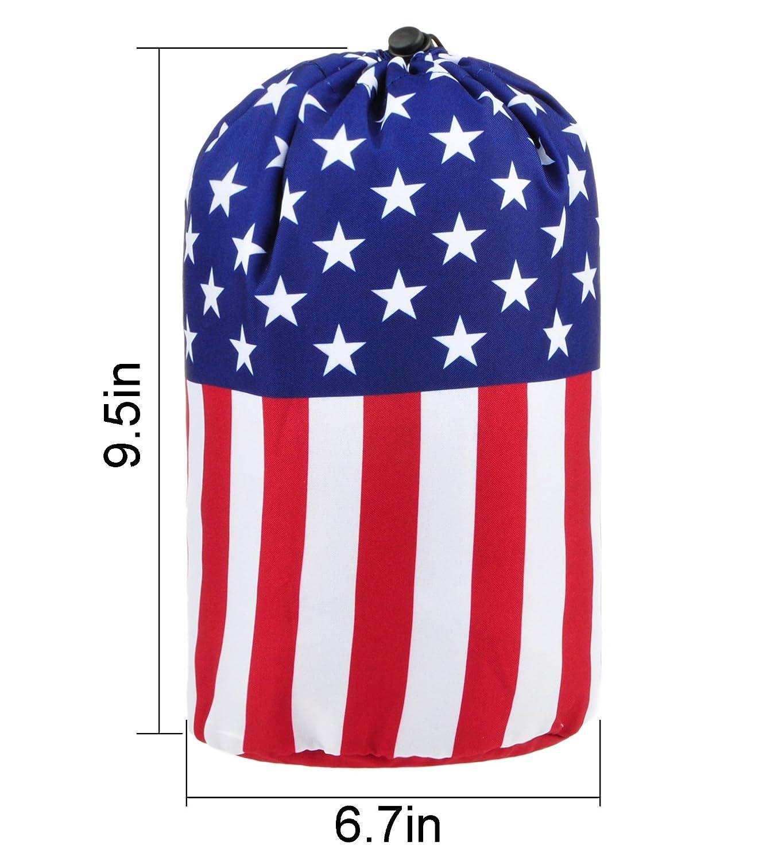4d6a8d91de Amazon.com  BAGOOE Printed Darwstring Quick Pack Travel Toiletries  Cosmetics Makeup Storage Bag Pouch Bucket Shape