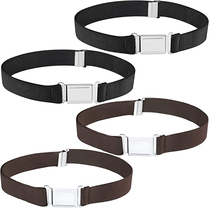 Elastic Belt with Easy Buckle Kids Boys Adjustable Belt
