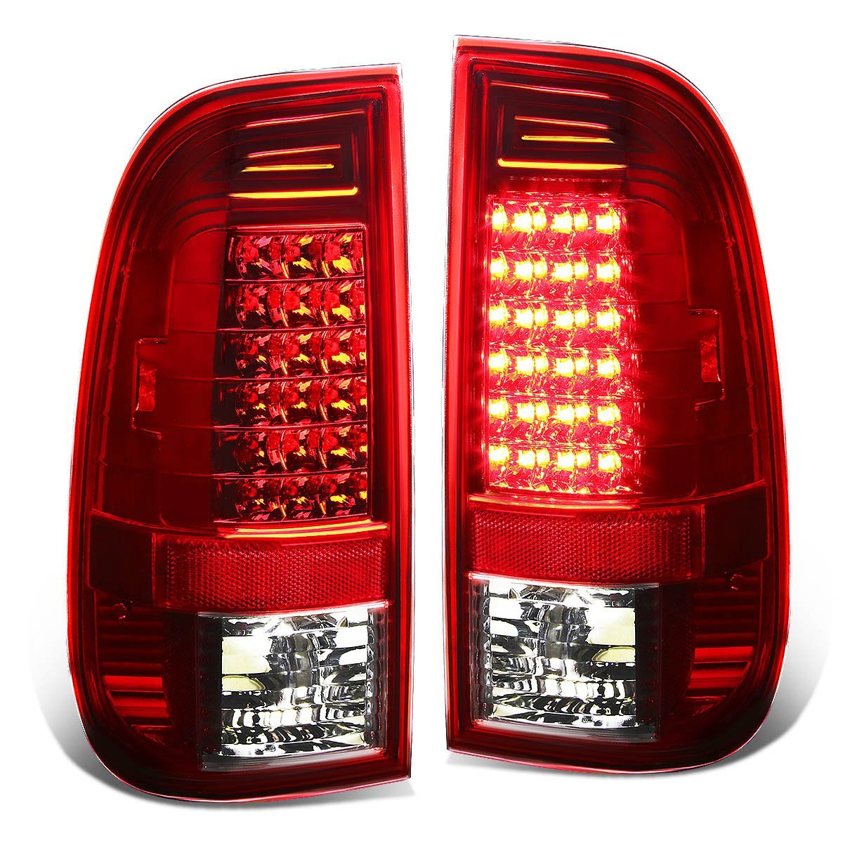 DNAMotoring TL-LED-F15097-CL Tail Light Assembly, Driver and Passenger Side DNA Motoring
