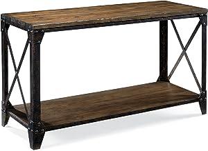 Magnussen T1755 Pinebrook Distressed Natural Pine Wood Rectangular Sofa Table
