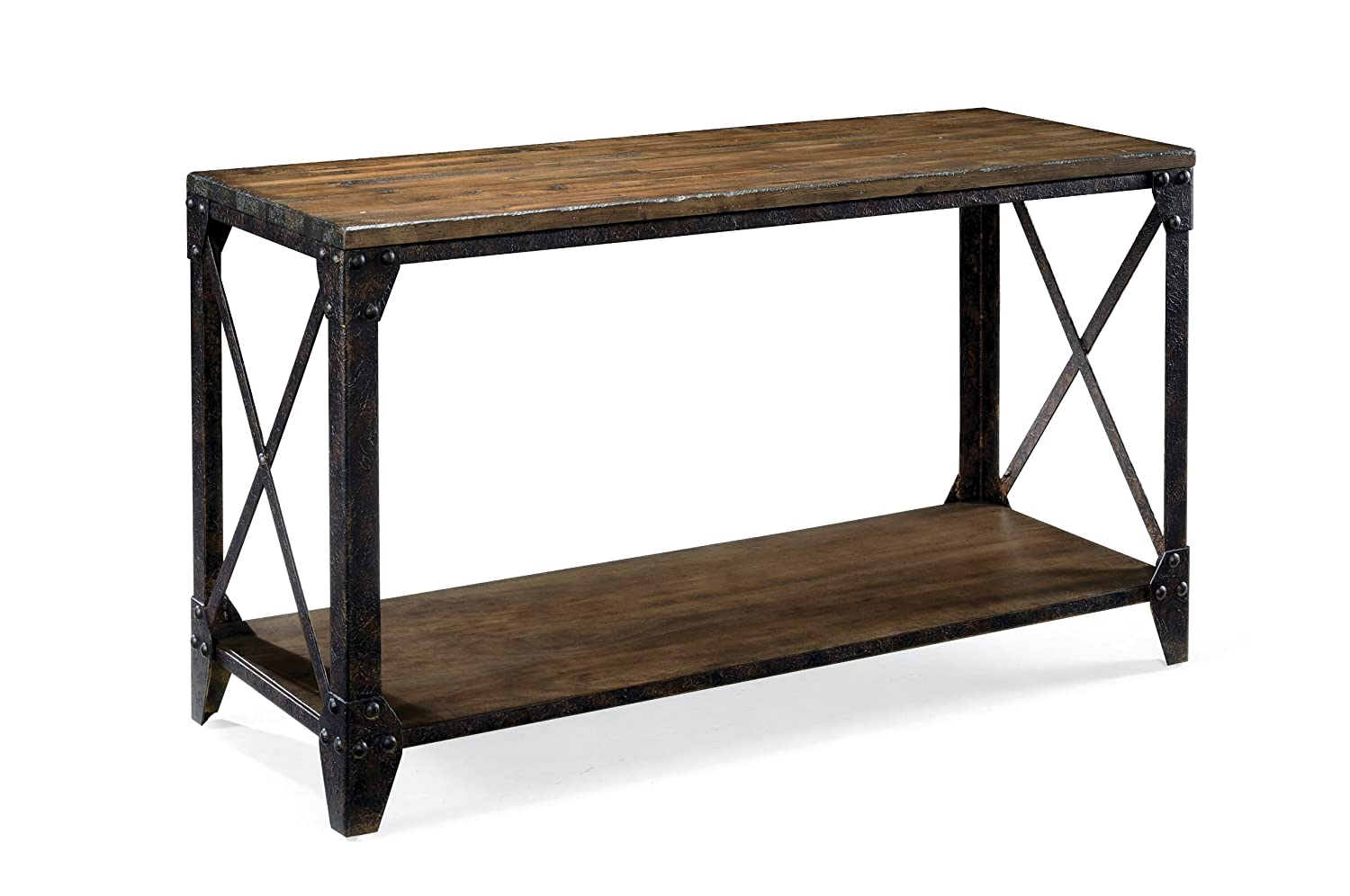 Amazon magnussen t1755 pinebrook distressed natural pine wood amazon magnussen t1755 pinebrook distressed natural pine wood rectangular sofa table kitchen dining geotapseo Gallery