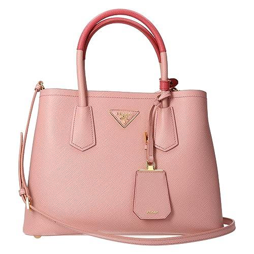 ef80c5a4b54b Prada Saffiano Cuir Double Mini Tote Bag Baby Pink  Amazon.ca  Shoes    Handbags