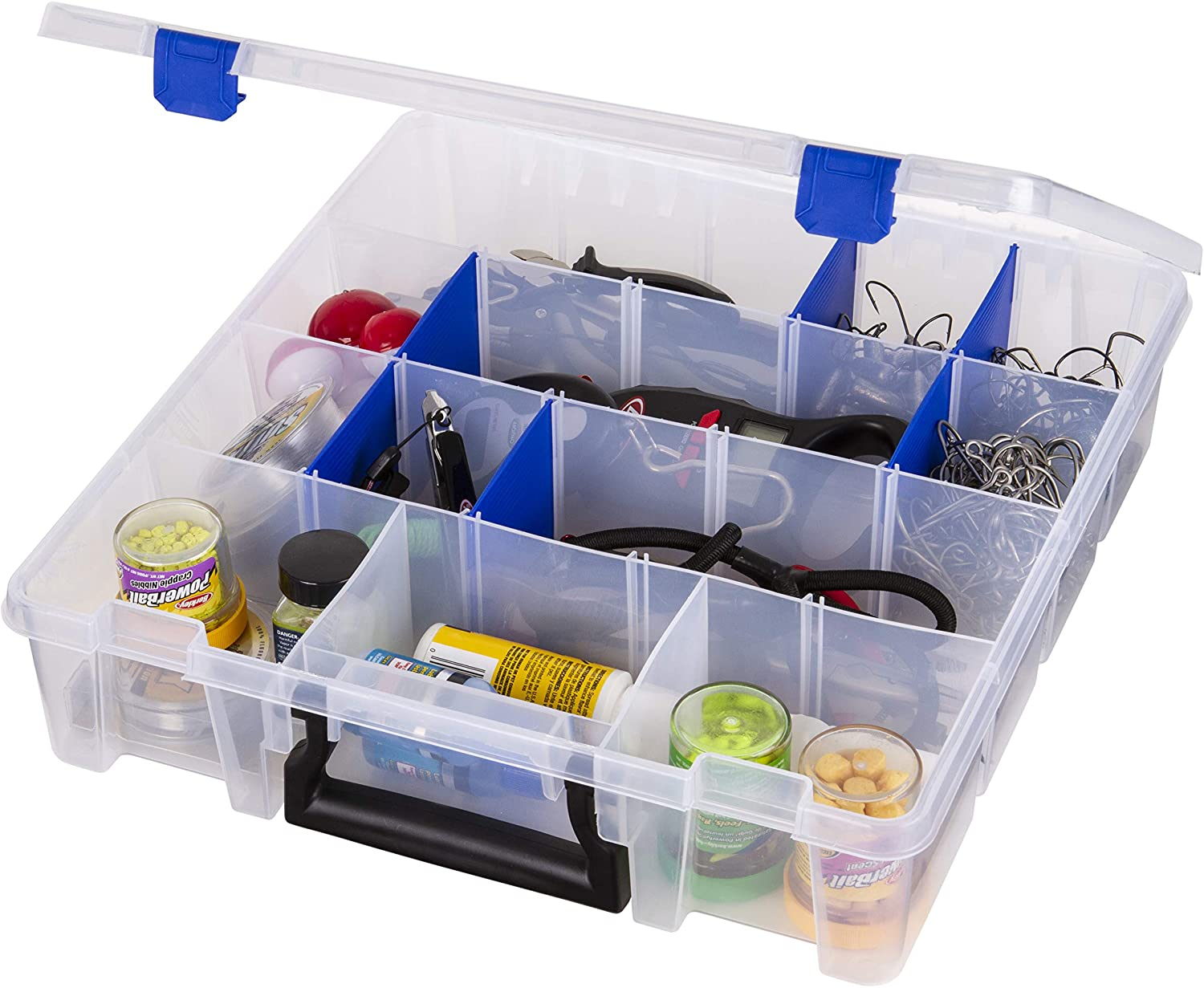 Flambeau Outdoors 9007 Tuff Tainer - 19 Compartments - Double Deep - Half Bulk (Includes (12) Zerust Dividers),Multi: Sports & Outdoors