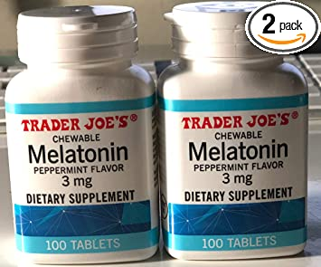 Amazon.com: Trader Joes 2 Pack Chewable Melatonin Peppermint Flavor ...
