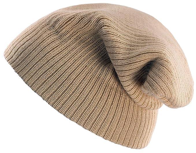 d458e3b2400 4sold Unisex Slouch Winter Beanie Hat Plain Beanie Ski Winter Hat Design in  UK (Beige)  Amazon.co.uk  Clothing
