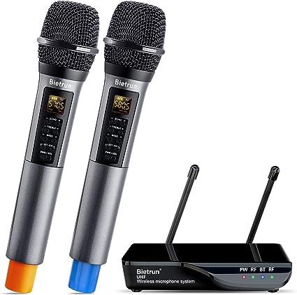 Ewendy Multifonctionnel 4-en-1 Haut-Parleur de Microphone de karaok/é Bluetooth sans Fil Fonctionnement /à Une Touche avec Effet sonore de Haute qualit/é Profitez de Chanter /à la Maison!