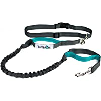 """Tuff Mutt Hands Free Dog Leash for Running, Walking, Hiking, Durable Dual-Handle Bungee Leash, Reflective Stitching, 4-Foot Long, Adjustable Waist Belt (Fits up to 42"""" waist)"""