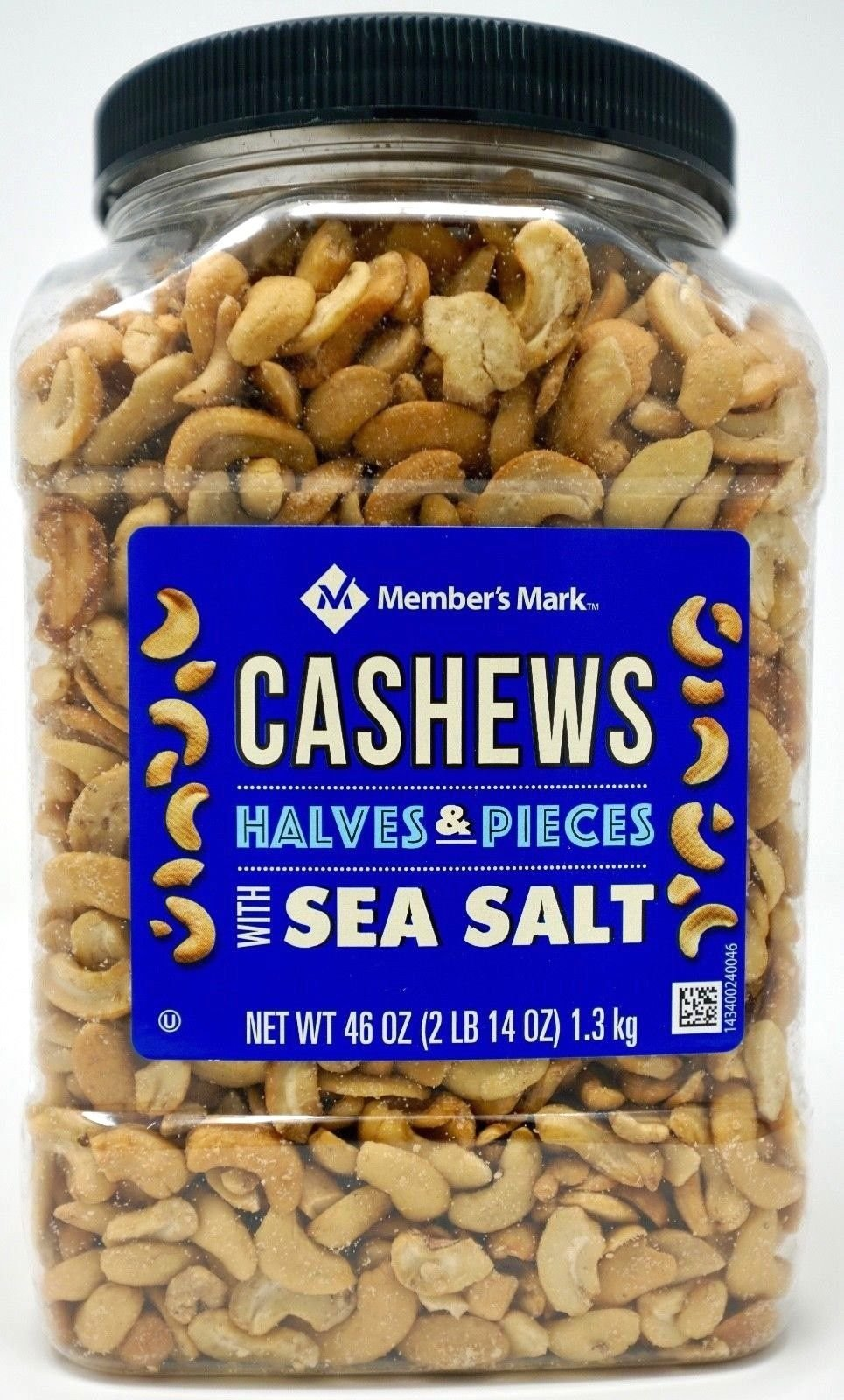Member's Mark Cashews Halves & Pieces with Sea Salt, 46 OZ